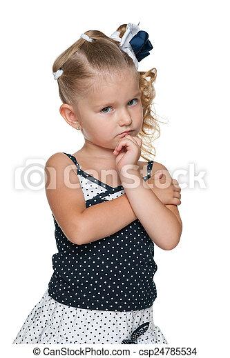 Portrait of an upset little girl - csp24785534