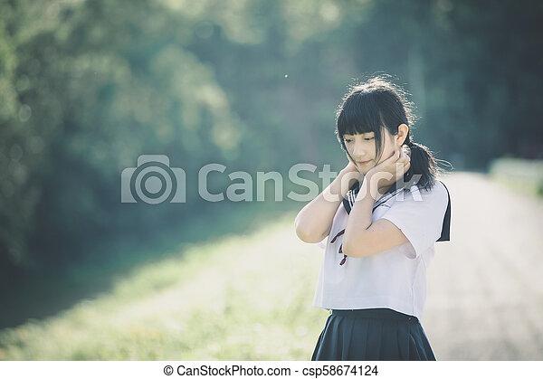 japanese Outdoor girls vintage