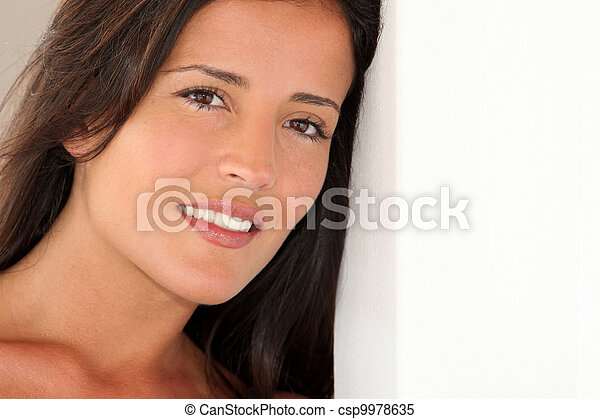 Portrait of attractive young woman - csp9978635