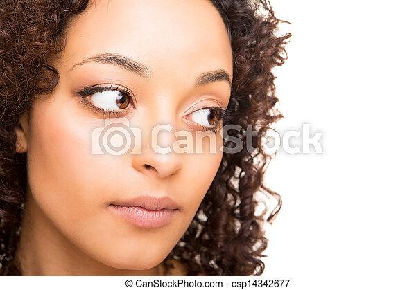 Portrait of beautiful african woman - csp14342677