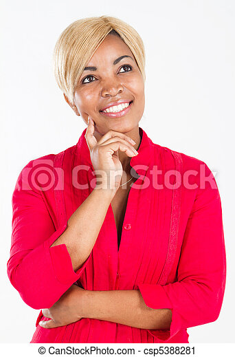 portrait of beautiful African woman - csp5388281