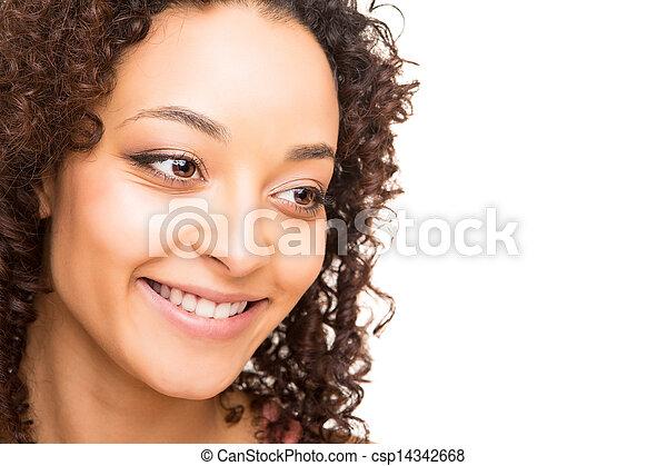 Portrait of beautiful african woman - csp14342668