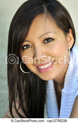Portrait of Beautiful Asian Woman - csp12795238