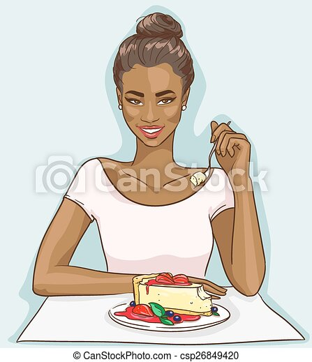 Portrait of beautiful black woman - csp26849420