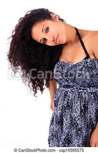 Portrait of Beautiful Woman african - csp10565575