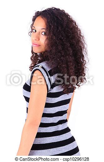 Portrait of Beautiful Woman african - csp10296128