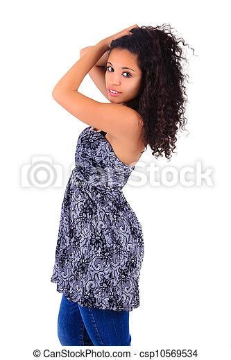 Portrait of Beautiful Woman african - csp10569534