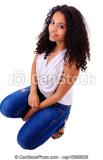 Portrait of Beautiful Woman african - csp10569535