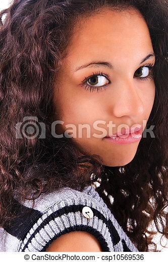 Portrait of Beautiful Woman african - csp10569536