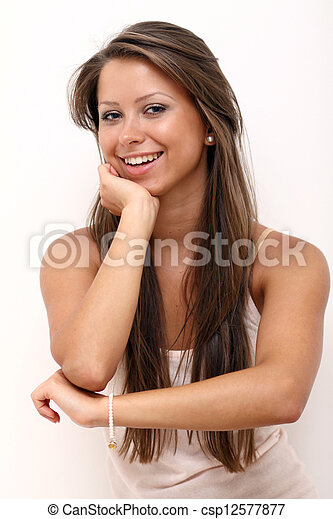 Portrait of beautiful woman - csp12577877