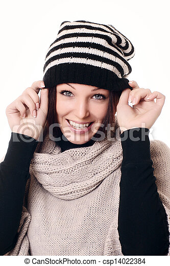 Portrait of beautiful woman - csp14022384