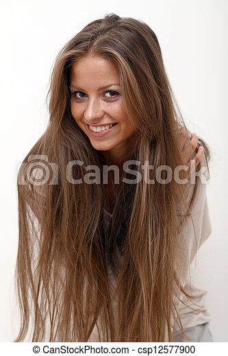Portrait of beautiful woman - csp12577900