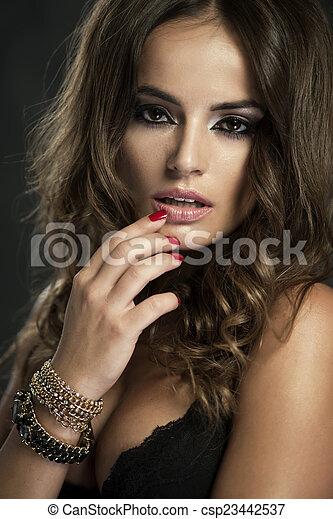 Portrait of beautiful woman - csp23442537
