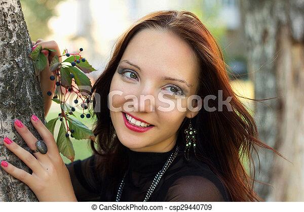 Portrait of beauty smiling woman - csp29440709
