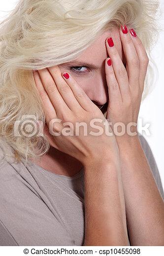 Portrait of blonde woman - csp10455098