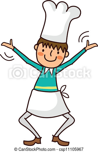 portrait of boy in chef uniform rh canstockphoto com  pampered chef logo clipart