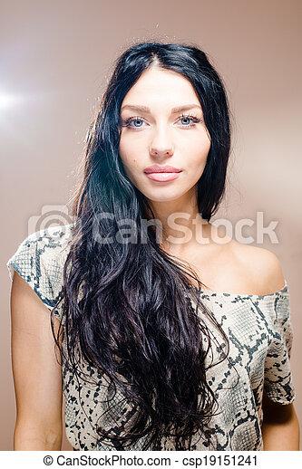 Eyes blue with girl hair black 20 Rare