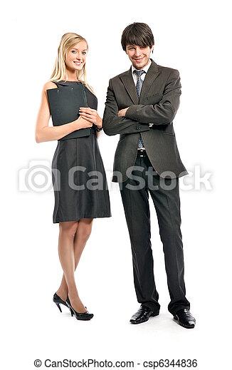 Portrait of business people - csp6344836