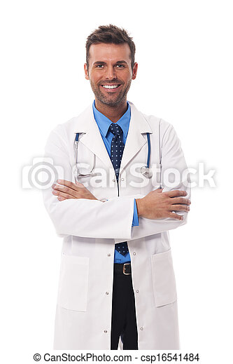 Portrait of candid male doctor - csp16541484