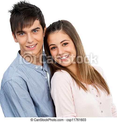 Amusing teen couple dress up criticising write