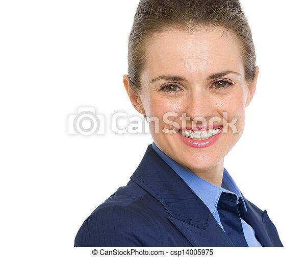 Portrait of happy business woman - csp14005975