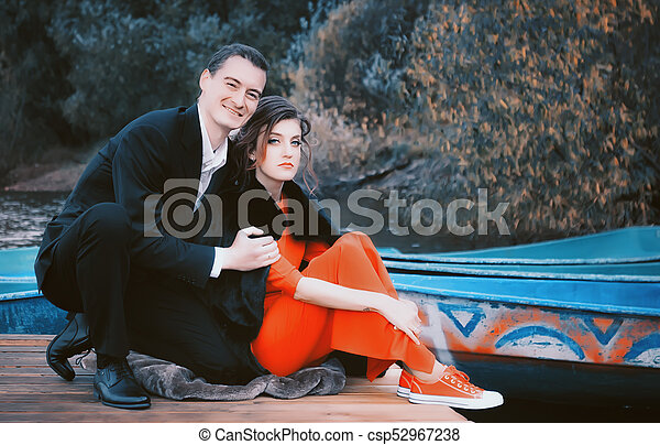 Portrait Of Happy Couple In Love - csp52967238