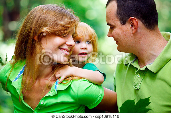 Portrait of Happy Family In Park - csp10918110