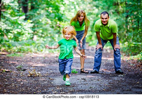 Portrait of Happy Family In Park - csp10918113