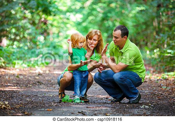 Portrait of Happy Family In Park - csp10918116