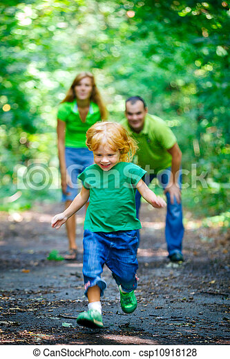Portrait of Happy Family In Park - csp10918128