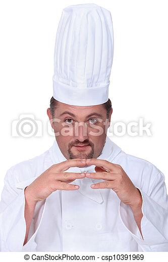 Portrait of male chef - csp10391969