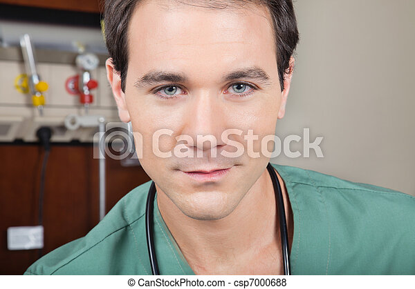 Portrait of male doctor - csp7000688
