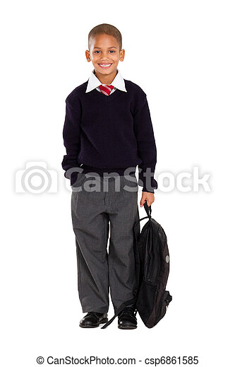 portrait of male elementary pupil - csp6861585