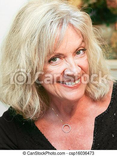 Portrait of Mature Beautiful Woman - csp16036473