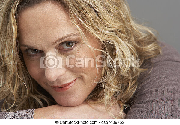 Portrait Of Middle Aged Woman - csp7409752