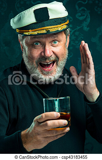 65d9478c241f8 Portrait of old captain or sailor man in black sweater. Portrait of ...
