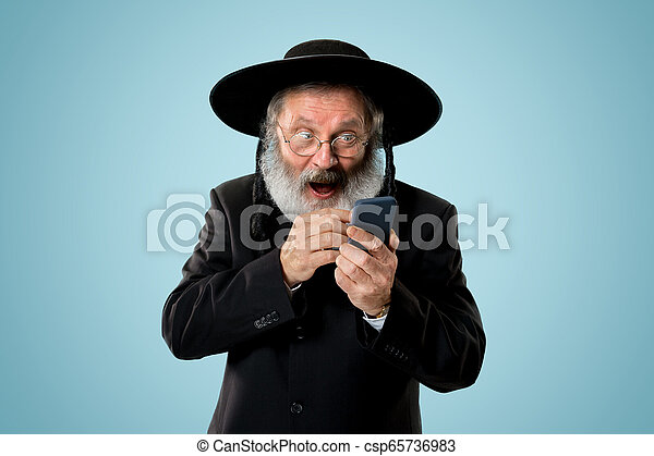 Portrait of old senior orthodox Hasdim Jewish man - csp65736983