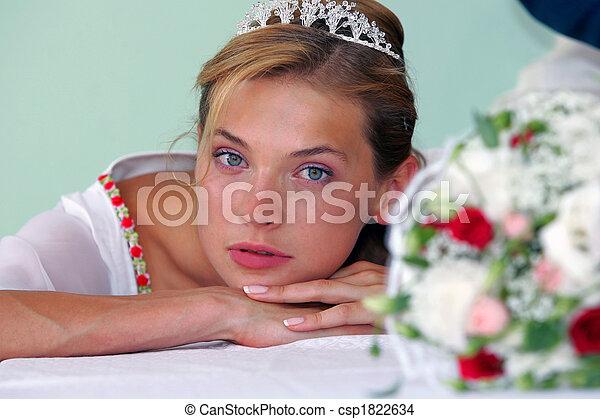 Portrait of pretty bride - csp1822634