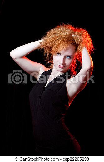 portrait of redhead woman - csp22265238