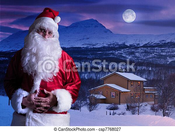 portrait of santa claus at the north pole csp7768027 - Santa At The North Pole