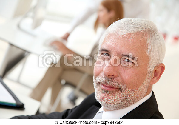 Portrait of senior businessman - csp9942684