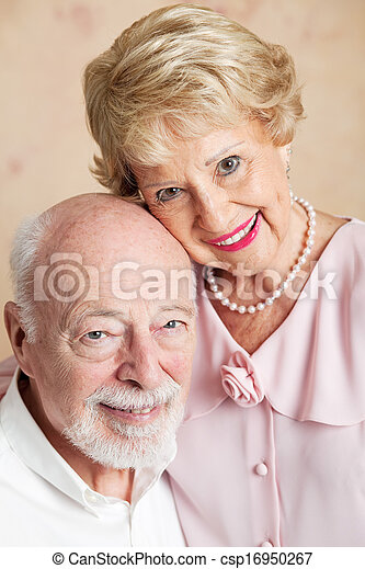 Portrait of Senior Husband and Wife - csp16950267