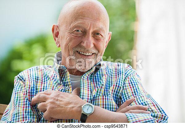 Portrait of senior man - csp9543871