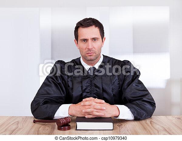 Portrait Of Serious Male Judge - csp10979340