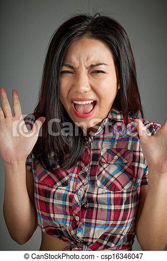 Asian girls screaming