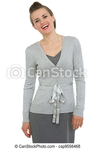 Portrait of smiling business woman - csp9556468
