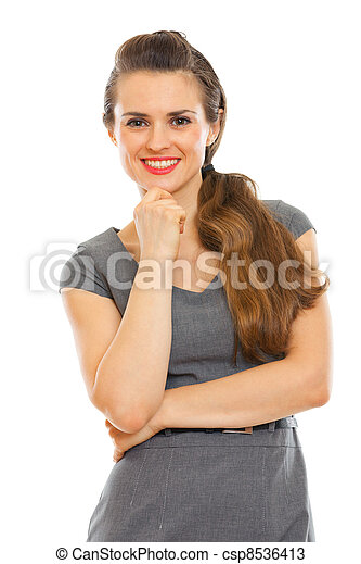 Portrait of smiling business woman - csp8536413