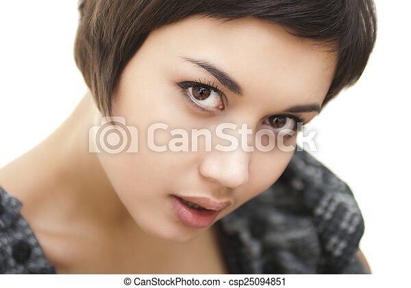 Portrait of smiling woman - csp25094851