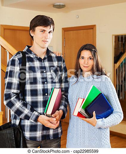 Portrait of student couple   - csp22985599