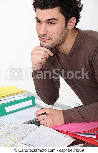 student cramming